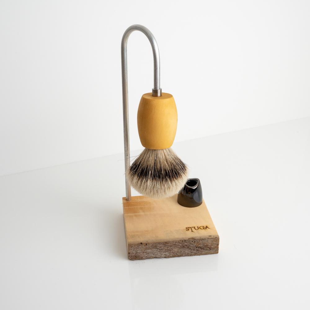 magic shaving brush on stand
