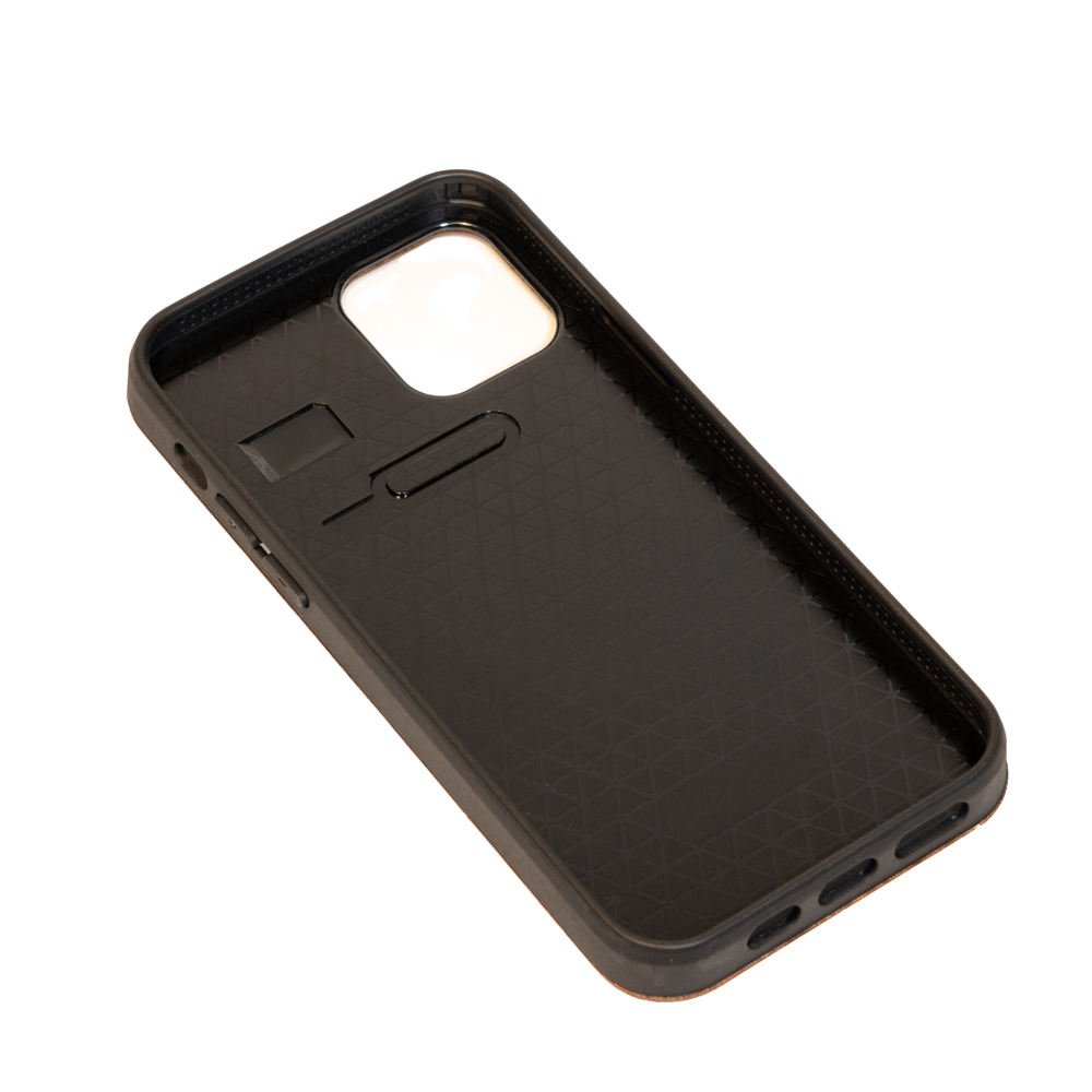 empty wooden mobile phone case