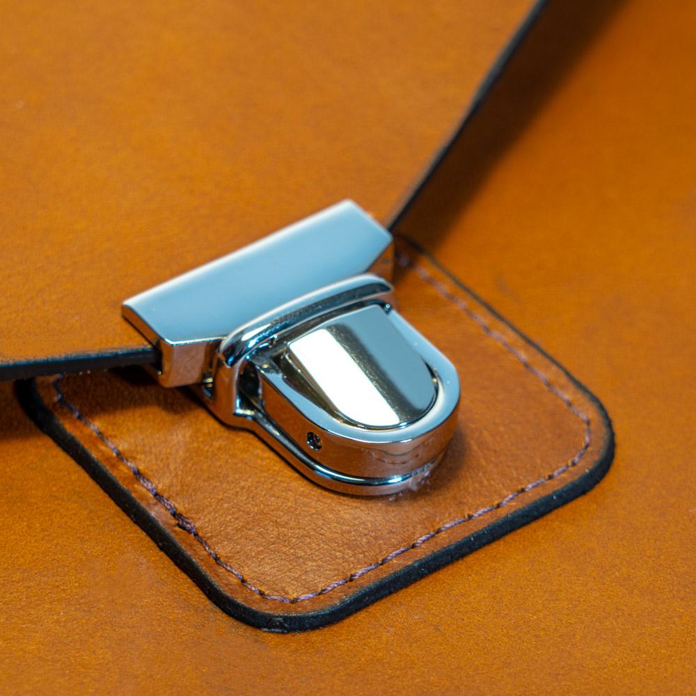 australian leather ipad case tuck lock in chrome