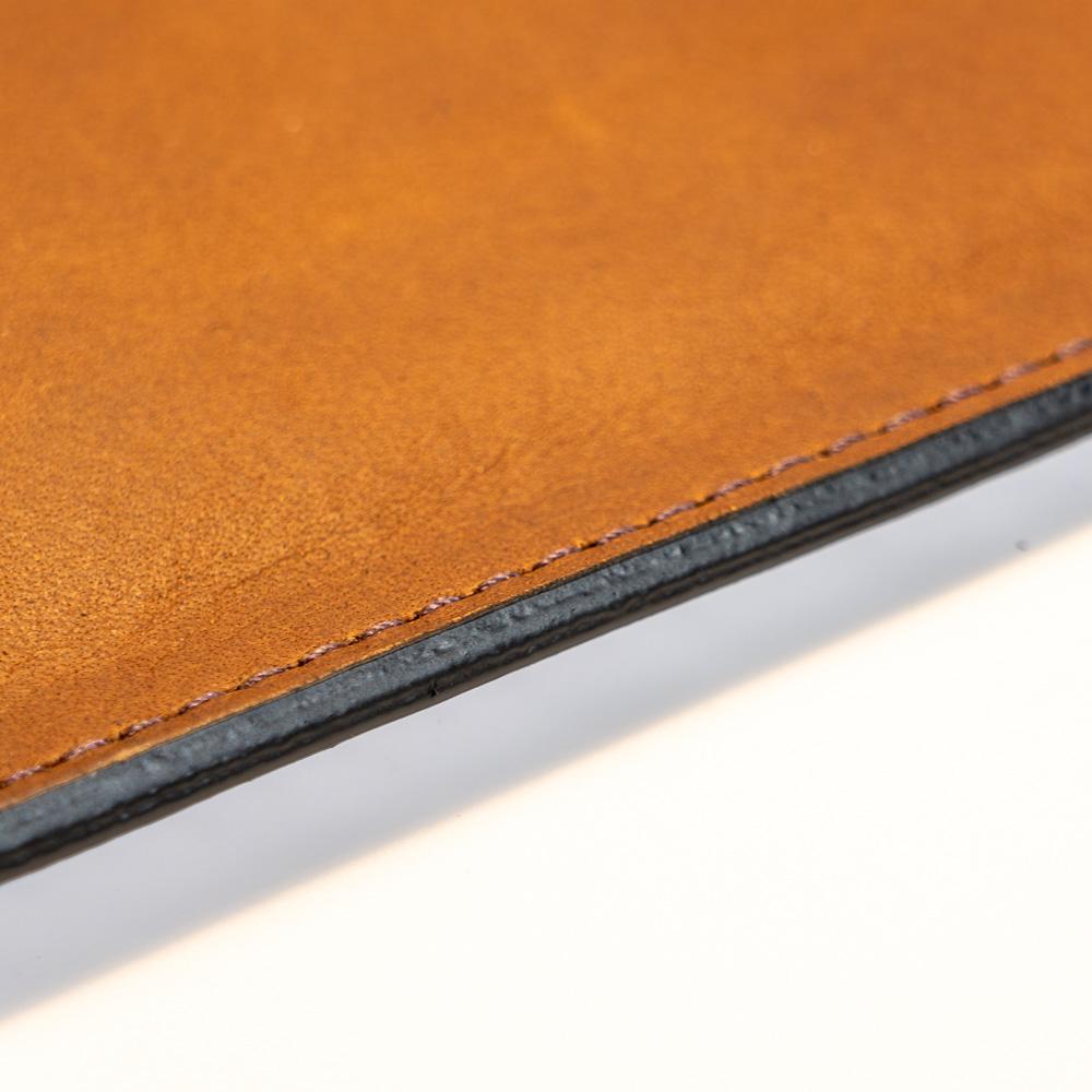 australian leather ipad case edge finish with mulberry stitching