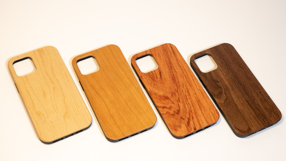 empty wooden mobile phone case all four wood
