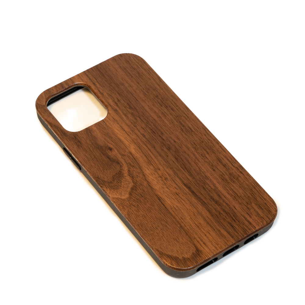 empty wooden mobile phone case face
