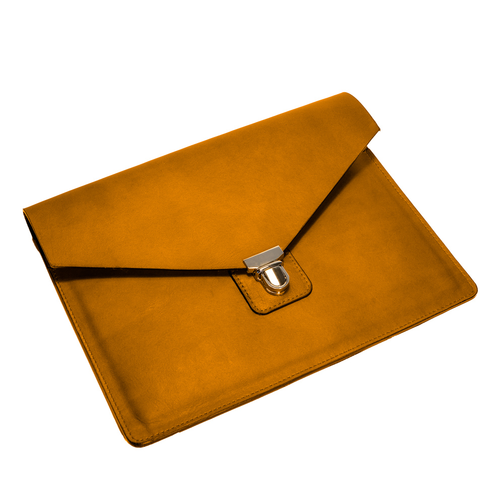 australian leather ipad case from cow leather in amber leather
