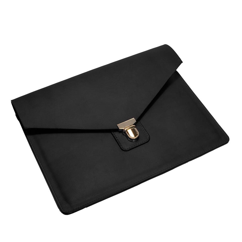 australian leather ipad case from cow leather in black leather