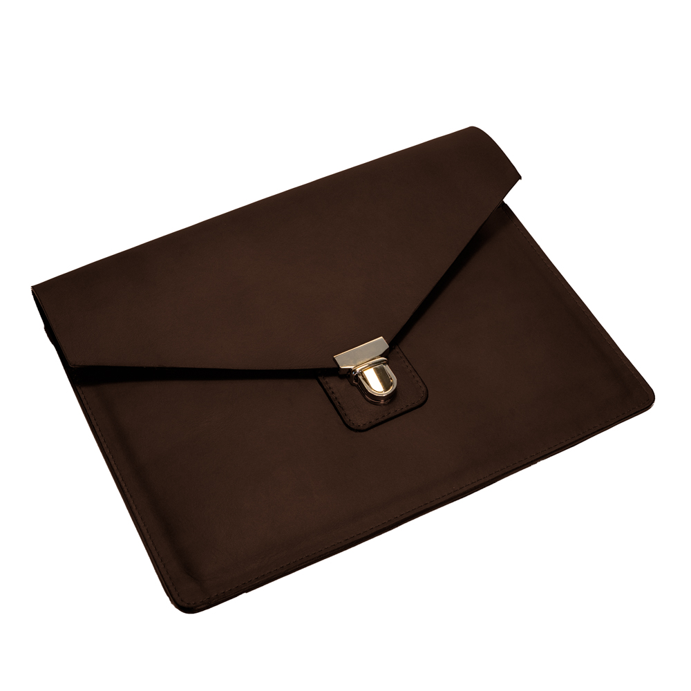 australian leather ipad case from cow leather in chocolate brown leather